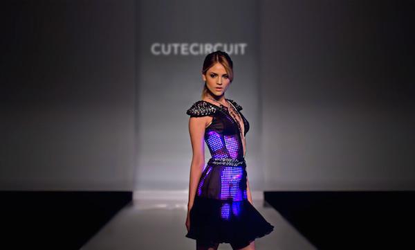 CuteCircuit The Eiza Dress Pink and Black