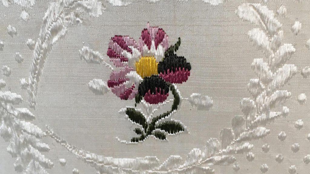 Huguenot Silk Flower