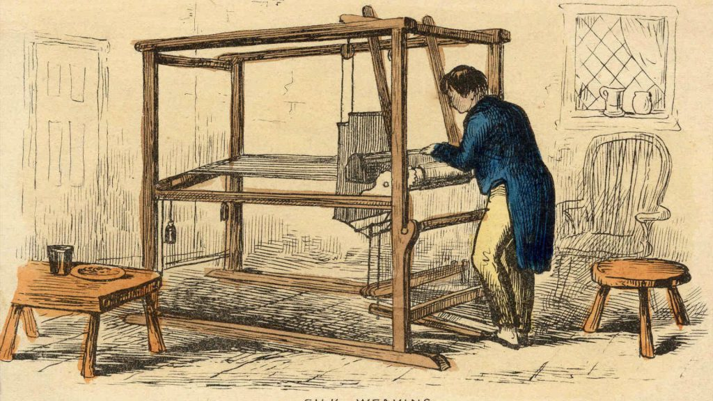 Huguenot silk weaving header
