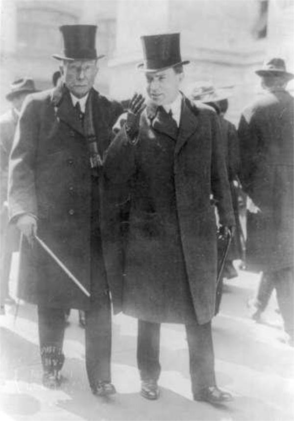 John D Rockefeller Snr and John D Rockefeller Jn 1915