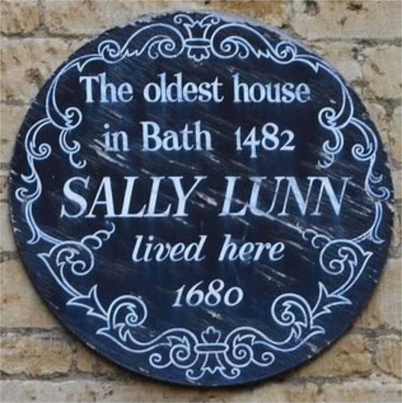 Sally Lunn Plaque