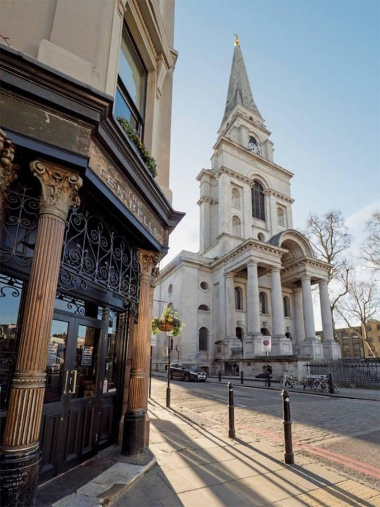 The Ten Bells and Christ Church Spitalfields