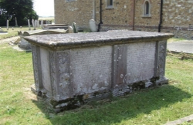 Tomb of Dr Peter Chamberlen at St Margaret's Church, Woodham, Mortimer, Essex