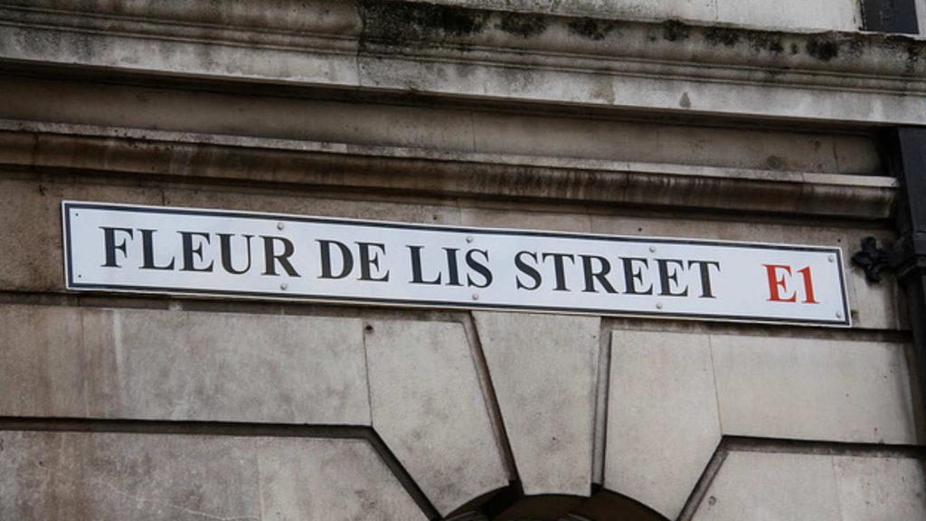 huguenot of spitalfields street names - fleu de lis st